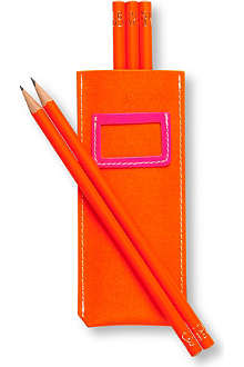 UNDERCOVER Recycled leather pencil pouch set