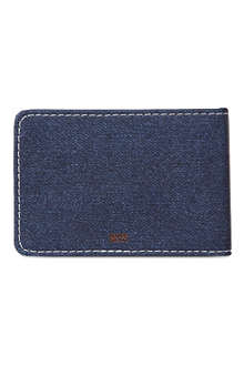 Denim travel card holder