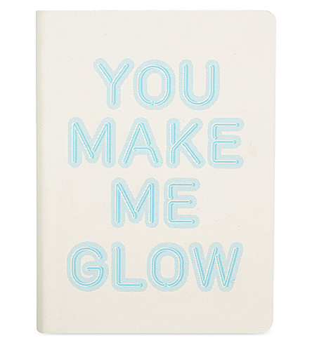 NUUNA You make me glow leather notebook