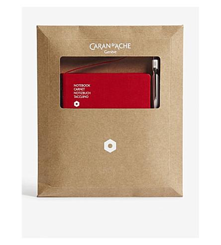 CARAN D'ACHE 849 ballpoint pen & office A6 notebook set