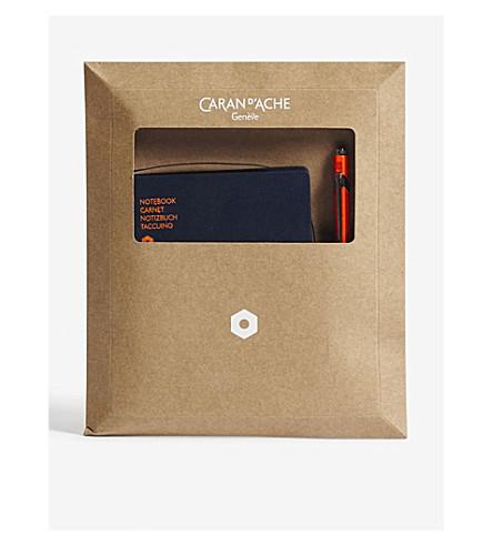 CARAN D'ACHE 849 ballpoint pen and office A6 notebook set