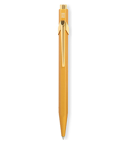 CARAN D'ACHE Original 849 goldbar pen with box
