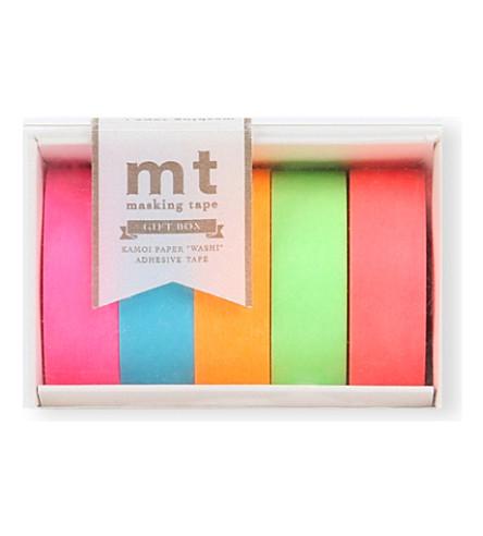MT TAPE Neon washi-tape gift set