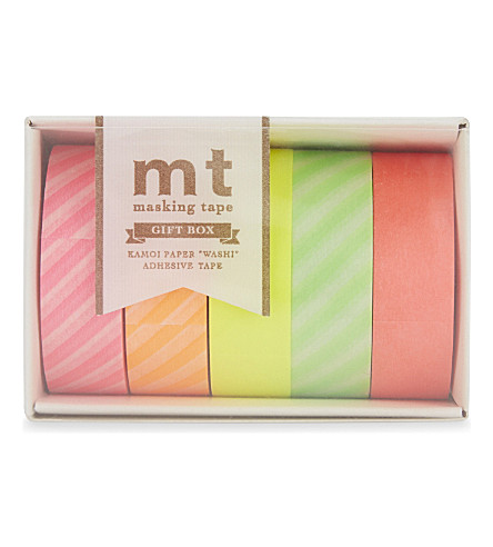 MT TAPE mt washi neon masking tape set of five rolls