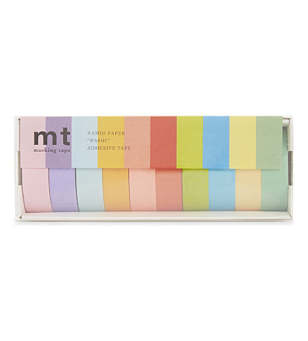 MT TAPE mt washi masking tape set of ten rolls