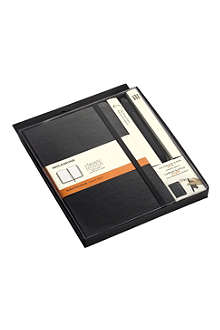 MOLESKINE Large Classic notebook and rollerball pen 07 set