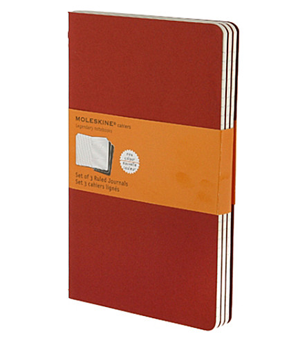 MOLESKINE Set of three ruled journals