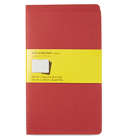 MOLESKINE Large squared journal triple pack