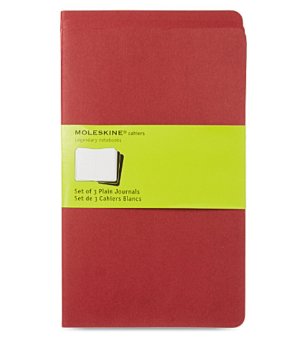 MOLESKINE Large plain journal triple pack