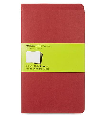 MOLESKINE Large plain journal triple pack