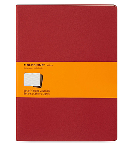 MOLESKINE Set of three cahier journals