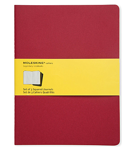 MOLESKINE Squared journal triple pack