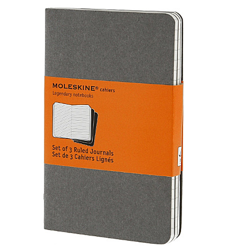 MOLESKINE Set of three ruled pocket Cahier journals