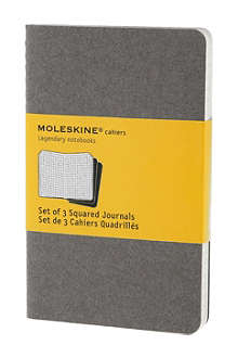 MOLESKINE Set of three squared pocket Cahier journals
