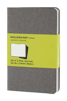 MOLESKINE Set of three plain pocket Cahier journals