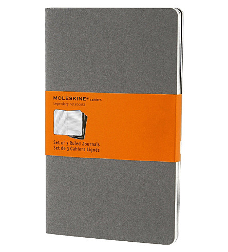 MOLESKINE Set of three large ruled Cahier journals