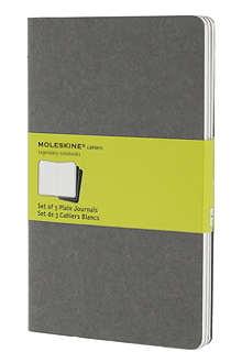 MOLESKINE Set of three large plain Cahier journals