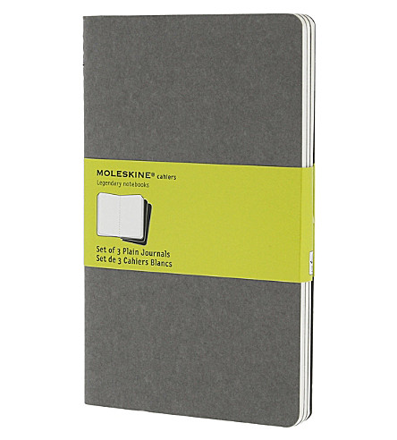 MOLESKINE Set of three large plain Cahier journals