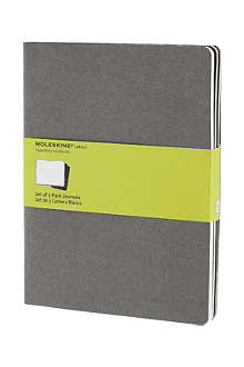 MOLESKINE Set of three extra large plain Cahier journals
