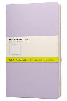 MOLESKINE Pastel cahier journal set of three notebooks