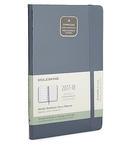 MOLESKINE Week-to-view 18-month diary/planner 2017/18