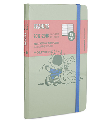 MOLESKINE Peanuts week-to-view 18-month pocket diary/planner 2017/2018