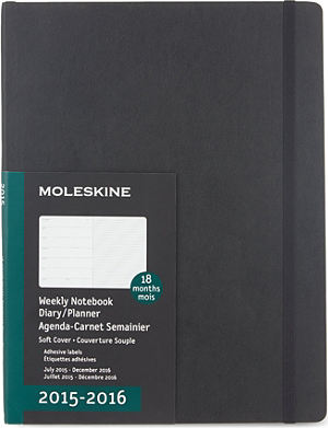 MOLESKINE Extra-large 18-month soft-cover diary