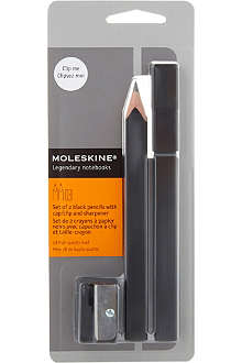 MOLESKINE Pencils and sharpener set