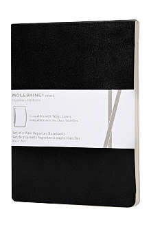 MOLESKINE Set of two Volant reporter notebooks iPad refill