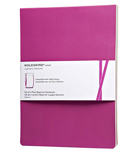 MOLESKINE Set of two plain volant reporter notebooks