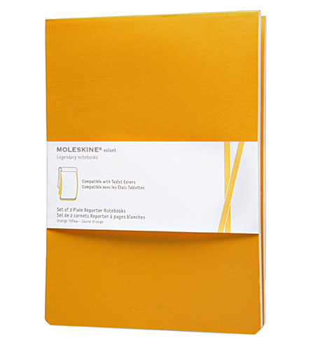 MOLESKINE Set of two Plain Volant reporter notebooks iPad refill
