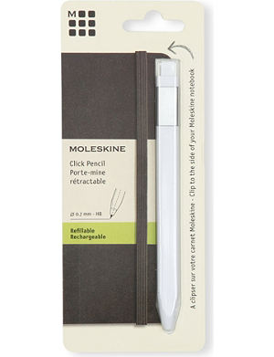 MOLESKINE Classic white medium tip click pencil 0.7
