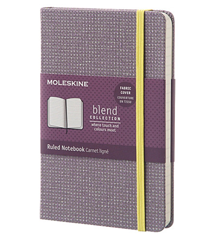 MOLESKINE Blend fabric cover ruled pocket notebook