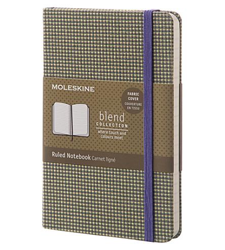 MOLESKINE 混合织物封面被统治的袖珍笔记本