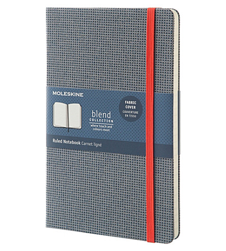 MOLESKINE Blend fabric cover ruled large notebook