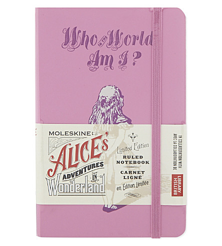 MOLESKINE Alice's Adventures in Wonderland ruled notebook