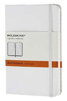 MOLESKINE White pocket ruled hard notebook