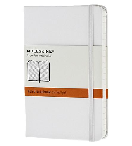 MOLESKINE White pocket ruled hard notebook
