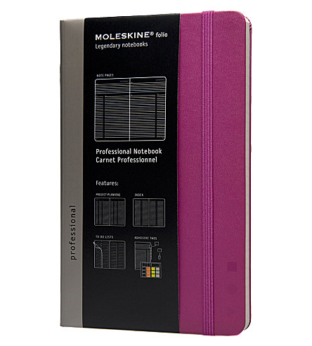 MOLESKINE Professional large notebook Magenta