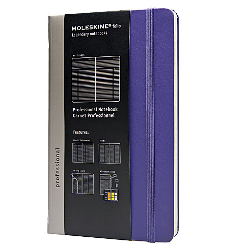 MOLESKINE Professional large notebook Violet