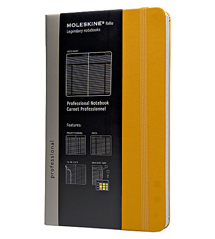 MOLESKINE Professional large notebook Yellow