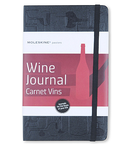MOLESKINE Passions collection A5 wine journal (Black