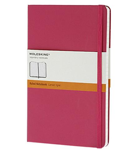 MOLESKINE Large Ruled magenta notebook