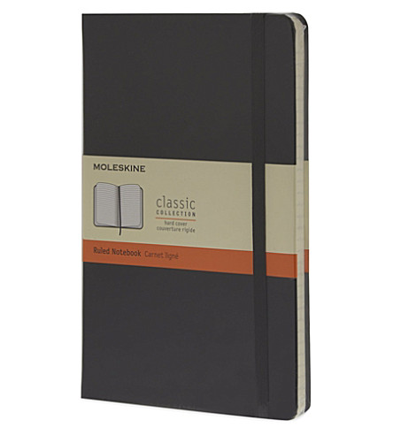 MOLESKINE Large ruled notebook (Black