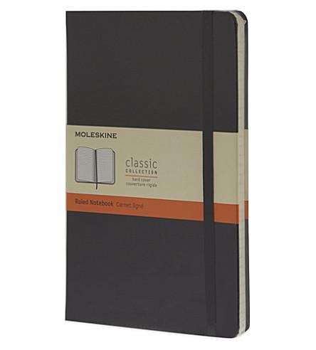 MOLESKINE 大的被统治的笔记本 (黑色