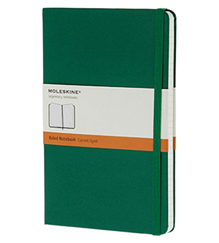 MOLESKINE Large Ruled oxide green notebook