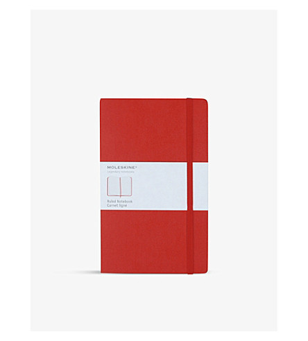 MOLESKINE Large ruled notebook (Red