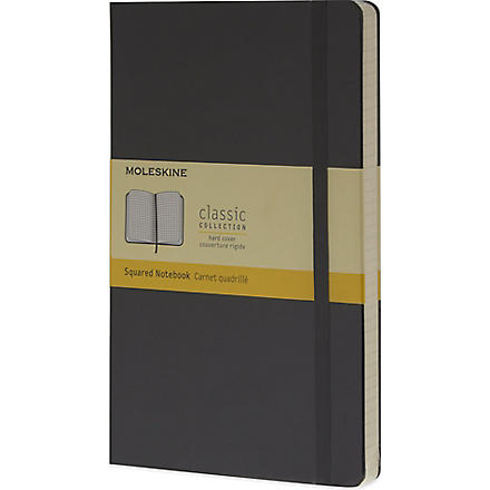MOLESKINE Large squared notebook (Black