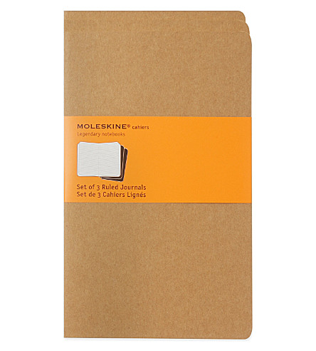 MOLESKINE Large ruled journal triple pack