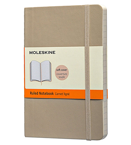 MOLESKINE Pocket Ruled khaki beige notebook